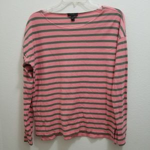 J.CREW Deck-Striped Crew Tee